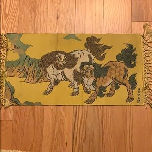 Vintage silk Japanese silk embroidery